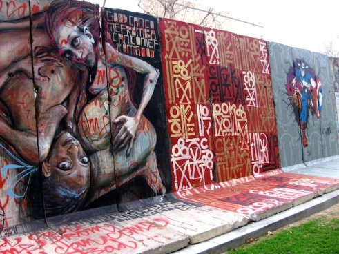 A section of the Berlin Wall in Los Angeles