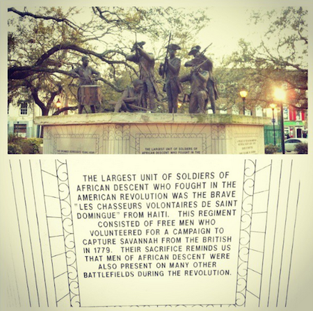 Revolutionary War memorial in Savannah